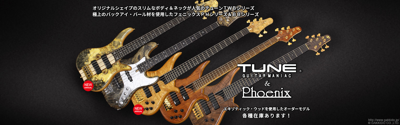 TUNE & Phoenixベースのカスタムオーダーモデル各種在庫あります!